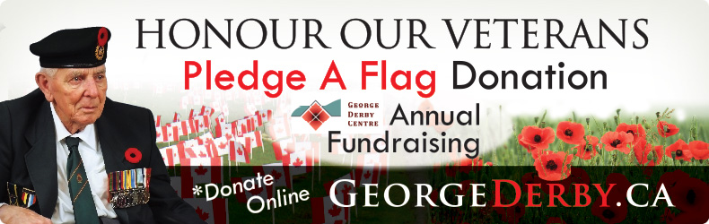 Pledge a flag, George Derby Centre, The Flag Shop Vancouver