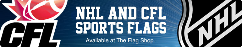 NHL Sports Flags, CFL Sports Flags